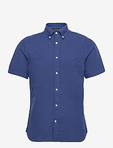 SLIM GMD CO/LI SHIRT S/S - chemises de lin - blue ink
