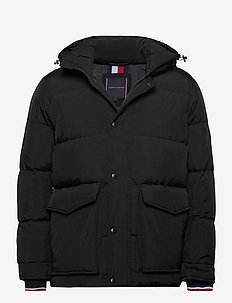 TOMMY DOWN HDD JACKET - padded jackets - black