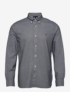 MELANGE DOBBY SHIRT - casual shirts - carbon navy