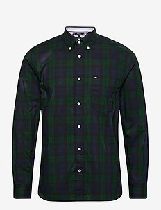 FLEX BLACK WATCH CHECK SHIRT - casual shirts - hunter / pitch blue / black