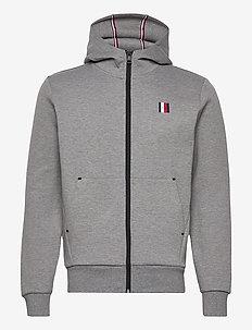 MODERN ESSENTIALS ZIP HOODY - basic sweatshirts - dark grey heather
