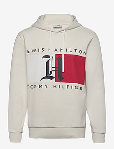 LH FLEECE LOGO HOODY - sweats à capuche - ivory
