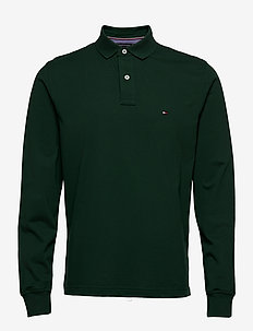 TOMMY REGULAR POLO LS - long-sleeved polos - hunter