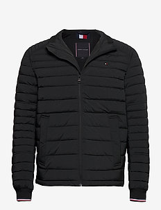 STRETCH QUILTED JACKET - padded jackets - black