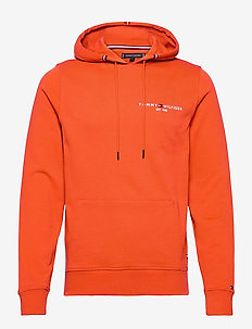 TOMMY SMALL LOGO HOODY - basic sweatshirts - tucson orange