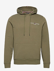 TOMMY SMALL LOGO HOODY - hoodies - utility olive