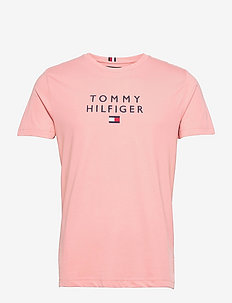 STACKED TOMMY FLAG TEE - t-shirts - glacier pink