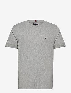 JACQUARD COLLAR TEE - perus t-paidat - medium grey heather