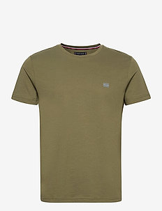 MODERN ESSENTIALS PANELED TEE - basic t-shirts - utility olive