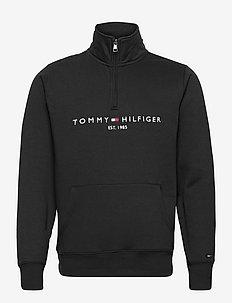 TOMMY LOGO MOCKNECK - truien - black