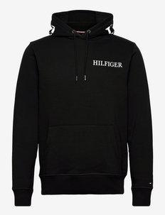 HILFIGER LOGO ON HOOD  HOODY - sweats à capuche - black