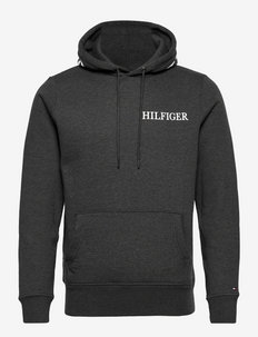 HILFIGER LOGO ON HOOD  HOODY - sweats à capuche - dark grey heather