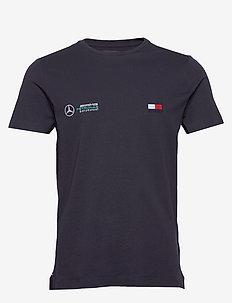 1 MB TECH LOGO TEE - basic t-shirts - desert sky