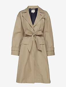 TOMMY ICONS CITY ECO TRENCH - trencze - classic camel