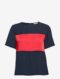 FRANCES TOP SS - t-shirty - midnight