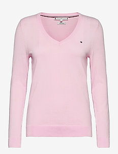 HERITAGE V-NK SWEATER - jumpers - cradle pink