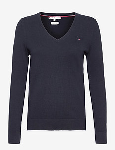 HERITAGE V-NK SWEATER - jumpers - midnight