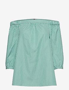 BARDOT TOP 3-4 - long sleeved blouses - soft we stp yd / jelly bean
