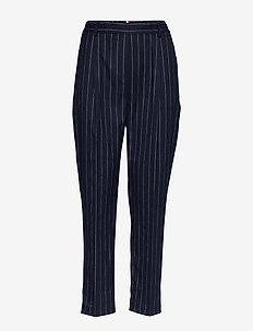 FRANKIE PULL ON PANT - bukser med lige ben - pin stripe sky captain