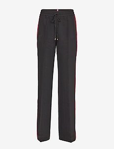 TH ESSENTIAL CREPE TRACK PANT - wide leg trousers - meteorite