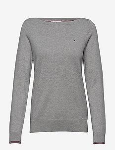 NEW IVY BOAT-NK SWTR - trøjer - light grey heather