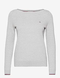NEW IVY BOAT-NK SWTR - jumpers - light grey heather
