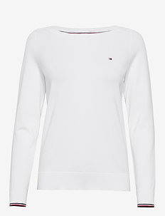 NEW IVY BOAT-NK SWTR - jumpers - white