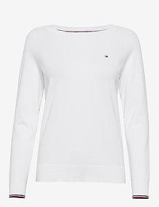 NEW IVY BOAT-NK SWTR - trøjer - white