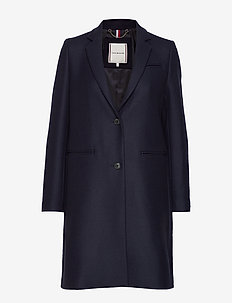BELLE WOOL BLEND CLASSIC  COAT - SKY CAPTAIN