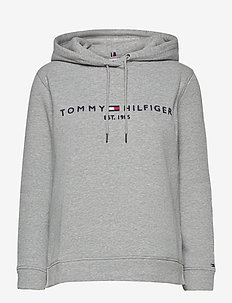 TH ESS HILFIGER HOODIE LS - hoodies - light grey heather