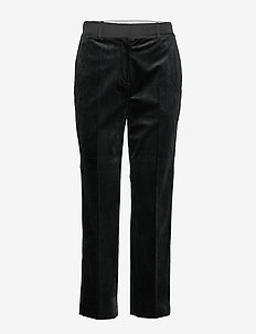 TERESA STRAIGHT PANT - bukser med lige ben - black