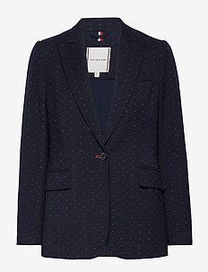 HATTIE SB BLAZER - skræddersyede blazere - mini spt jcqurd - tri clr blue