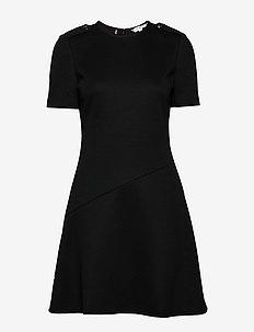 LILLY SS DRESS - kurze kleider - black