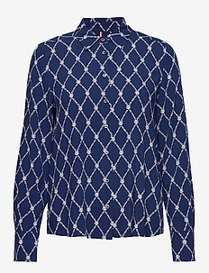 DANEE BLOUSE LS - langærmede skjorter - thc monogram prt / blue ink