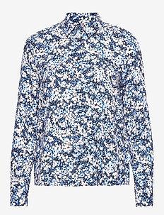 DANEE BLOUSE LS - langærmede skjorter - camofloral prt / desert sky