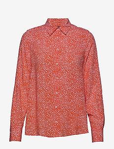 DANEE BLOUSE LS - langærmede skjorter - ditsy floral prt / br. ver