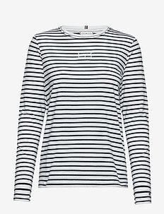 POLLIE C-NK TEE LS - striped t-shirts - we stp - tmmy hlfger dsrt sky