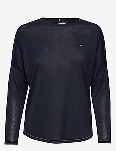 REBECCA C-NK TOP 3/4 - basic t-shirts - desert sky