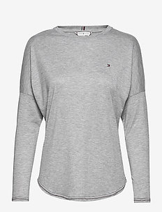 REBECCA C-NK TOP 3/4 - LIGHT GREY HEATHER