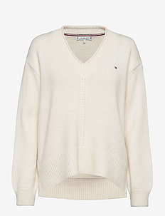 AD CEVIE V-NK SWT - jumpers - ecru
