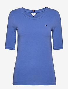 TH ESS SLD ROUND-NK 1/2 SLV - basis t-shirts - iris blue