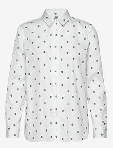 DAEL SHIRT LS W3 - langærmede skjorter - thc emb ithaca stp - white