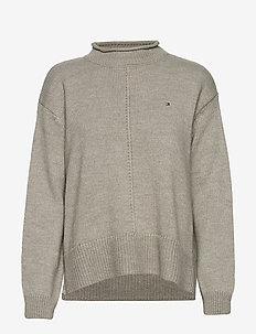 AD CEVIE MOCK-NK SWT - trøjer - light grey heather