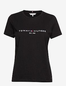 NEW TH ESS HILFIGER - logo t-shirts - black
