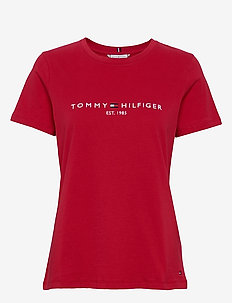 NEW TH ESS HILFIGER - logo t-shirts - primary red