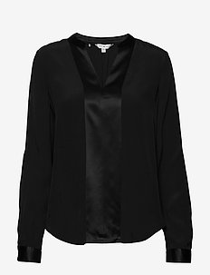 LUCIA BLOUSE LS - blouses à manches longues - black