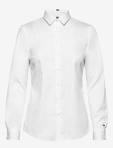 TH ESSENTIAL SHIRT L - langærmede skjorter - classic white