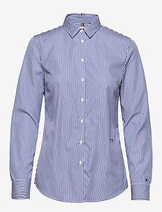 TH ESSENTIAL SHIRT L - langærmede skjorter - yd we stp - cobalt