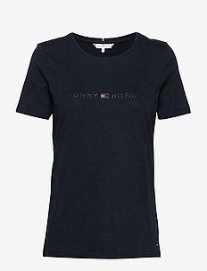TIARA REGULAR ROUND-NK TEE SS - logo t-shirts - desert sky