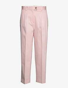 COTTON PASTEL TAPERED PANT - broeken med straight ben - pale pink